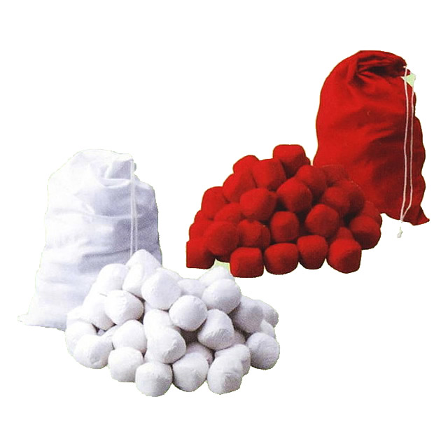 [送料無料] 玉入れ用玉(オガクズ入り) 赤/白 50球 袋入り