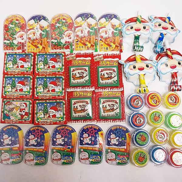 [送料無料] クリスマスおもちゃ色々150個セット、XMASバック50枚付
