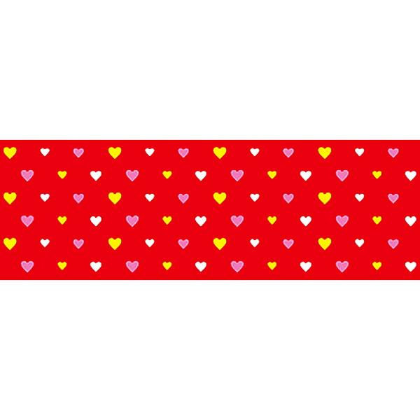 [送料無料] バレンタイン装飾 ビニール幕 ハートレッド 60cm幅×50m巻