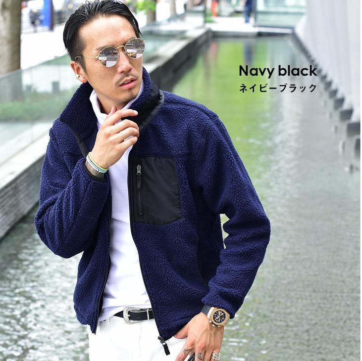 Men fashion coordinates in boa blouson men jacket boa jacket Korea fashion  winter of winter clothes winter clothing cold protection trend fashion