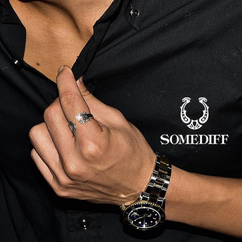 SOMEDIFF(サムディフ)『ホースシューフリーリング』 シルバー リング メンズ レディース ブランド シンプル 指輪 フリーサイズ 大きいサイズ おしゃれ お洒落 ペア ペアリング ホースシュー 馬蹄 シルバー925 金属アレルギー アクセサリー ゴールド カップル プレゼント ギフト 記念日 ちょいワル SOMEDIFF サムディフ