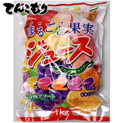 扇雀飴本舗 まるごと果実ジュースキャンデー 1KG 8袋×2セット(16袋)