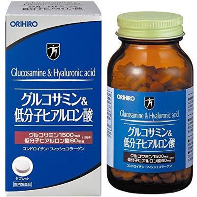 オリヒロ グルコサミン&低分子ヒアルロン酸粒 432粒×48個  【送料無料】