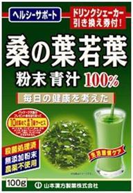 山本漢方 桑の葉青汁粉末 100g×20個  【送料無料】