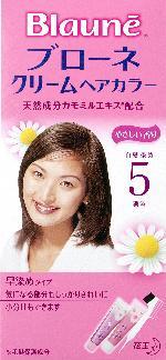 花王 ブローネ クリームヘアカラー 5 1組×24個  【送料無料】