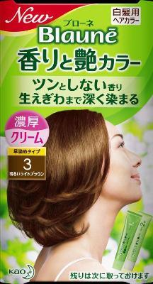 花王 ブローネ 香りと艶カラークリーム 3 1組×24個  【送料無料】