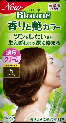 花王 ブローネ 香りと艶カラークリーム 5 1組×24個  【送料無料】