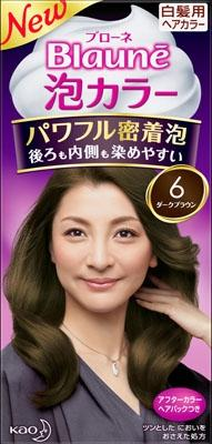 花王 ブローネ泡カラー 6 ダークブラウン 1組×24個  【送料無料】