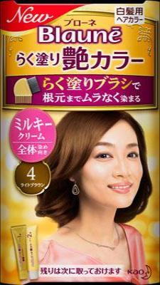 花王 ブローネ らく塗り艶カラー 4 1組×24個  【送料無料】