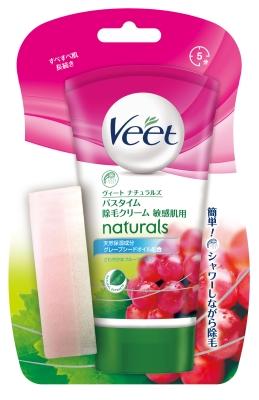 レキット Veet ナチュラルズ バスタイム除毛C 敏感肌 1組×30個  【送料無料】