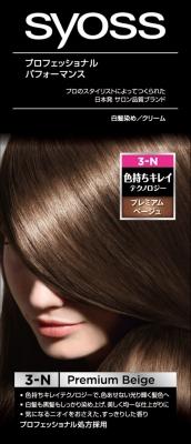 Sヘンケル SYOSS ヘアカラー クリーム 3プレミアムBE 1組×36個  【送料無料】