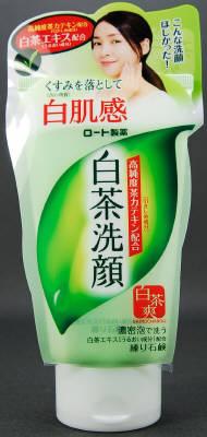ロート製薬 白茶爽 白茶練り石鹸 120g×48個  【送料無料】