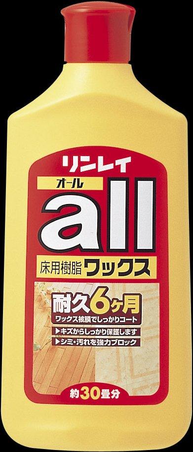 リンレイ リンレイ 床ワックス オール 500ML×24個【送料無料】【住居用洗剤】【お掃除】