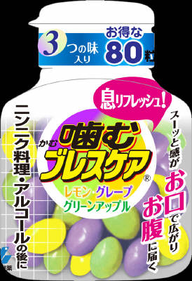 小林製薬 噛むブレスケアボトル アソート 80粒×96個【送料無料】【オーラル】【歯磨き】【歯ブラシ】