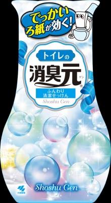 小林製薬 トイレの消臭元 ふんわり清潔せっけん 400mL ×32個【送料無料】【消臭剤】【芳香剤】