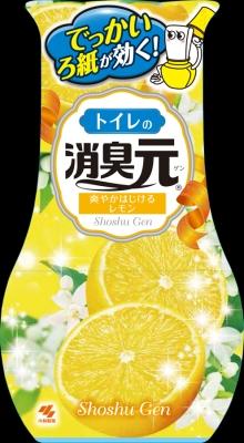 小林製薬 トイレの消臭元 爽やかはじけるレモン400mL ×32個【送料無料】【消臭剤】【芳香剤】
