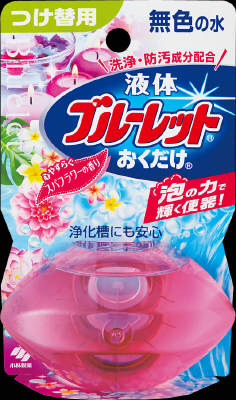小林製薬 液体ブルーレットおくだけつけ替 スパフラワー 70ml×48個【送料無料】【消臭剤】【芳香剤】