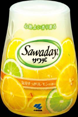 小林製薬 サワデー 気分すっきりレモンの香り 140g×48個【送料無料】【消臭剤】【芳香剤】