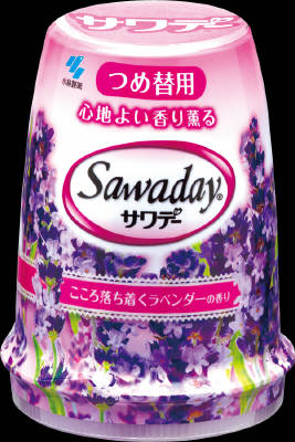 小林製薬 サワデー こころ落ち着くラベンダーの香り 替 140g×48個【送料無料】【消臭剤】【芳香剤】