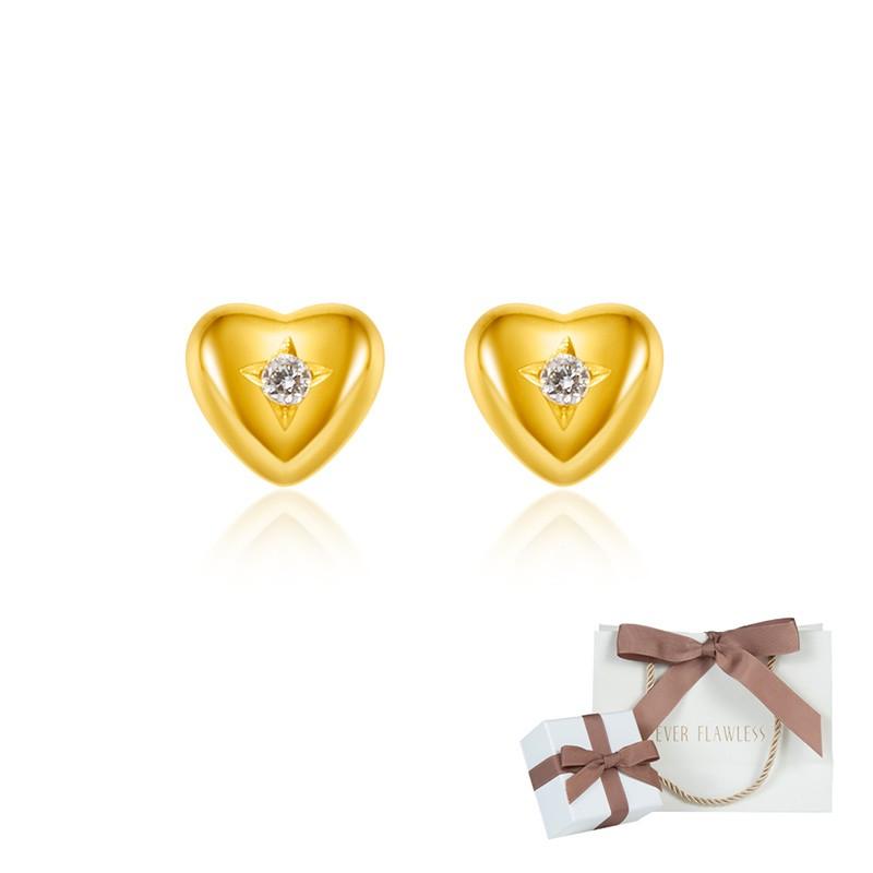 K18 ダイヤモンド ハート 両耳ピアス レディース ジュエリー アクセサリー イエローゴールド