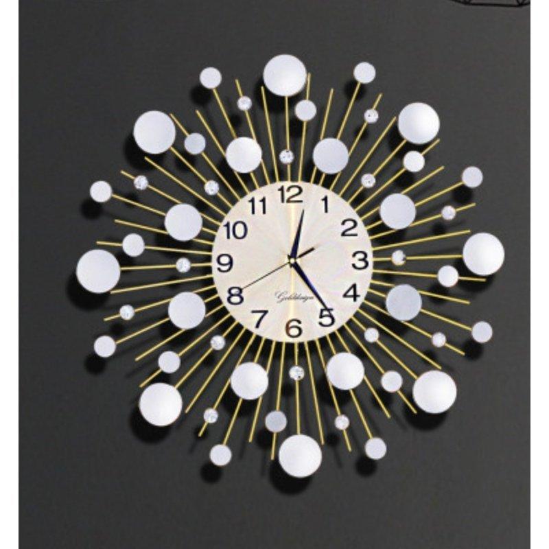 きらめきが華やかなミラー&キュービック装飾の壁時計 壁掛け時計 モダンキュービック・ウォールクロック ミラー付タイプ