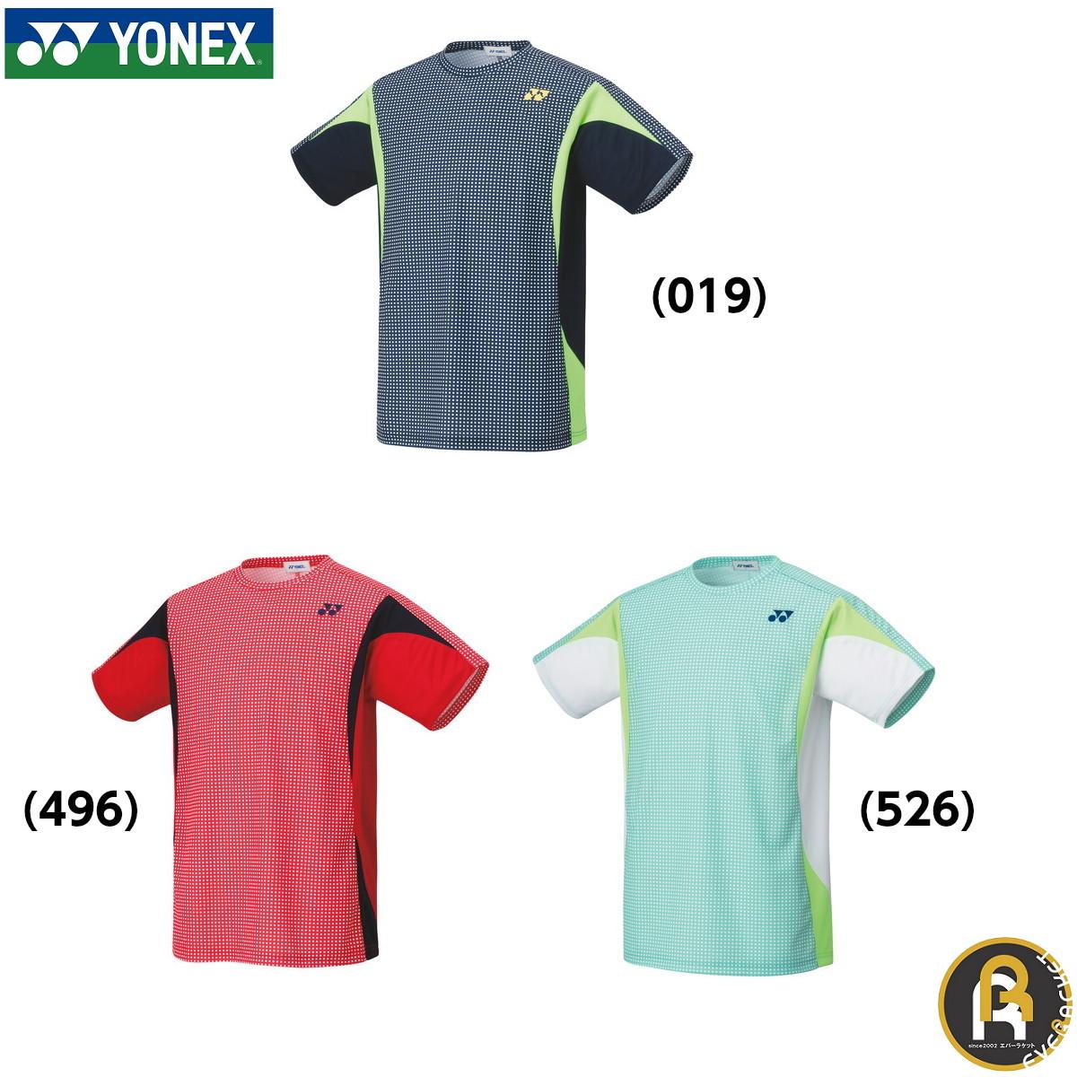 2020年SS YONEX:ユニゲームシャツ 在庫限り35%OFF ポスト投函送料無料 安心の定価販売 ヨネックス ついに再販開始 YONEX バドミントン ソフトテニス ユニゲームシャツ ウエア 10356