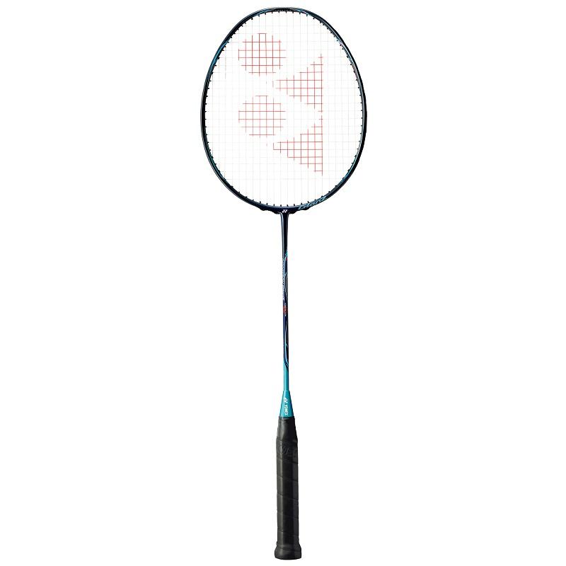 【お買い得商品】ドミントン ラケット バドミントンラケット ガット代 張り上げ代無料 ナノレイグランツ NANORAYGlanZ NR-GZ ネイビー/ターコイズ (390)