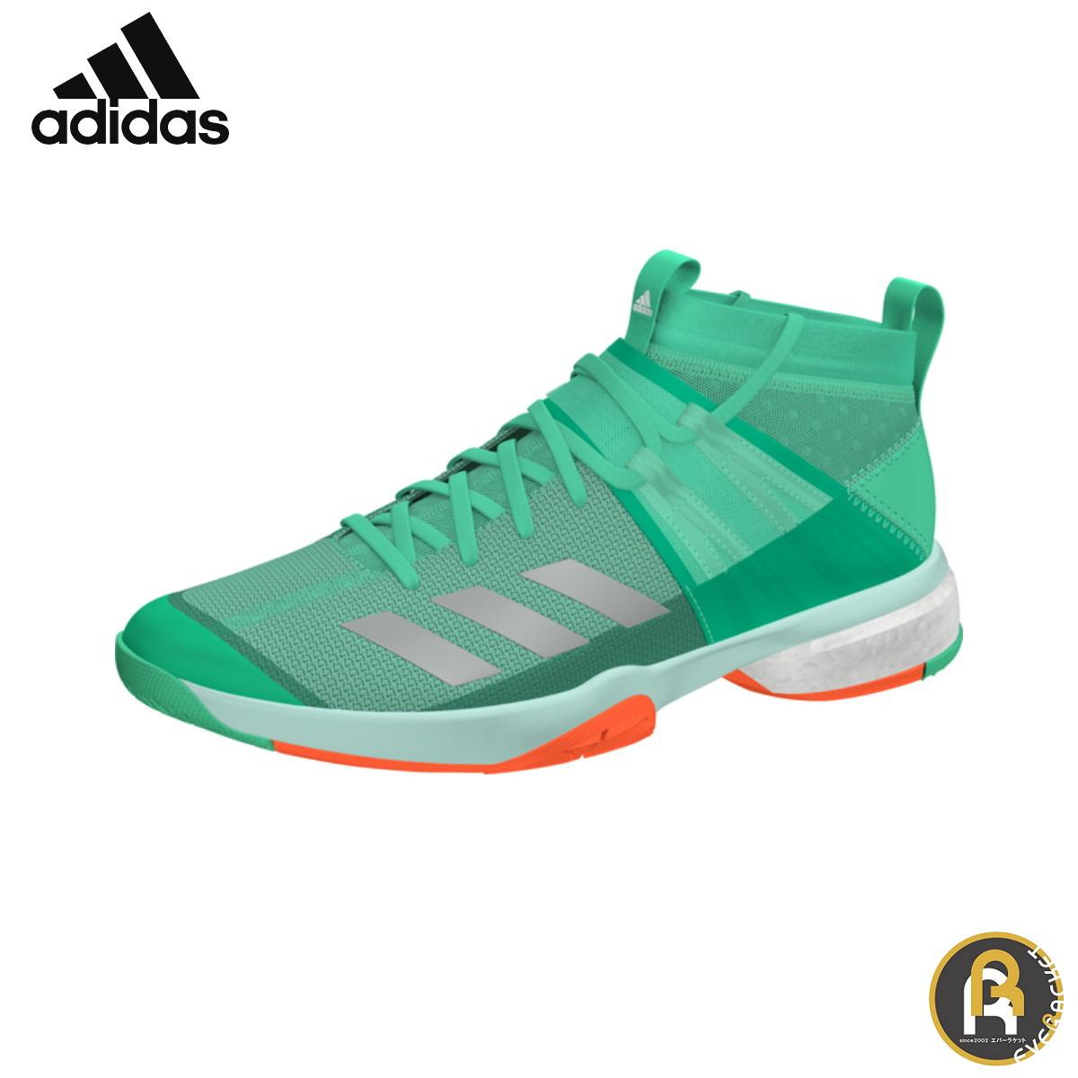 【アディダスクリアランス】 adidas バドミントン バドミントンシューズ ヴフトP8.1 ブーストシューズ ハイレゾグリーン DA8868