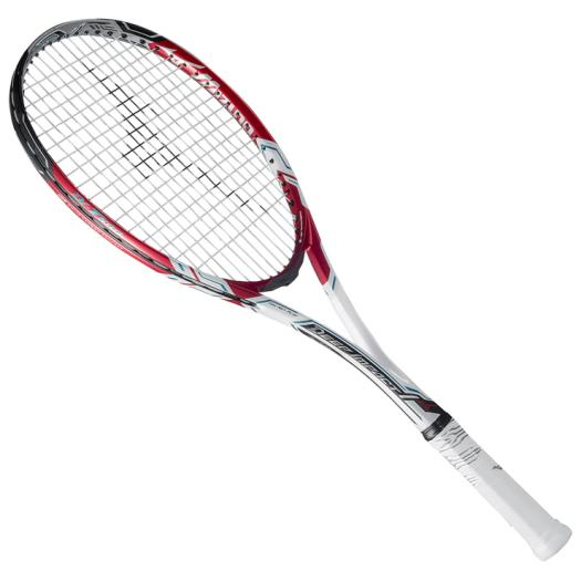 【特価商品】ミズノ MIZUNO ソフトテニス ラケット DI-T 500 ディーアイT500 63JTN74562 ソリッドホワイト×レッド (62) 前衛モデル