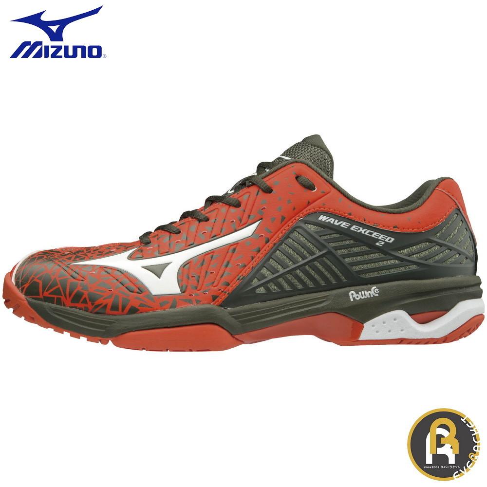 【限定商品】MIZUNO ミズノ テニス ソフトテニス ソフトテニスシューズ WAVE EXCEED2 WIDE OC 61GB181362 ウエーブエクシード2 WIDE OC