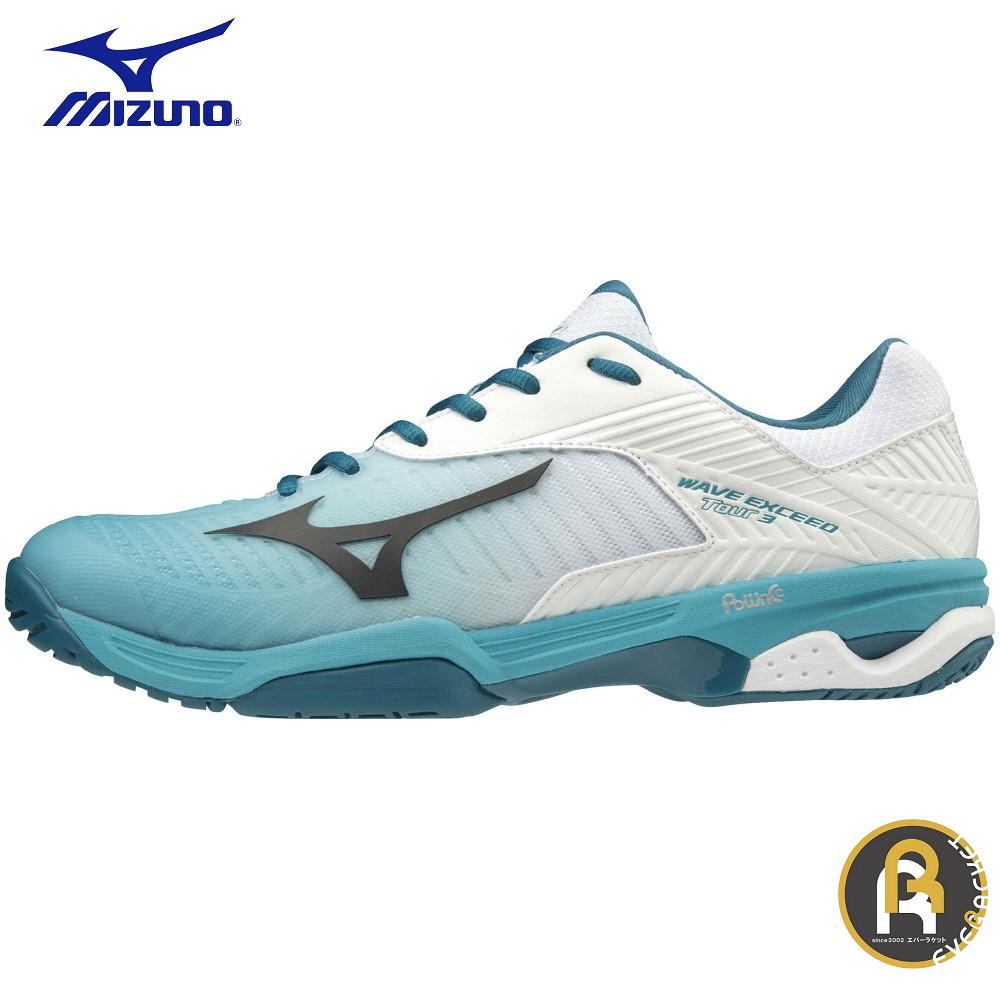 MIZUNO ミズノ テニス ソフトテニス テニスシューズ WAVE EXCEED TOUR3 OC 61GB187235 ウエーブエクシード TOUR3 OC