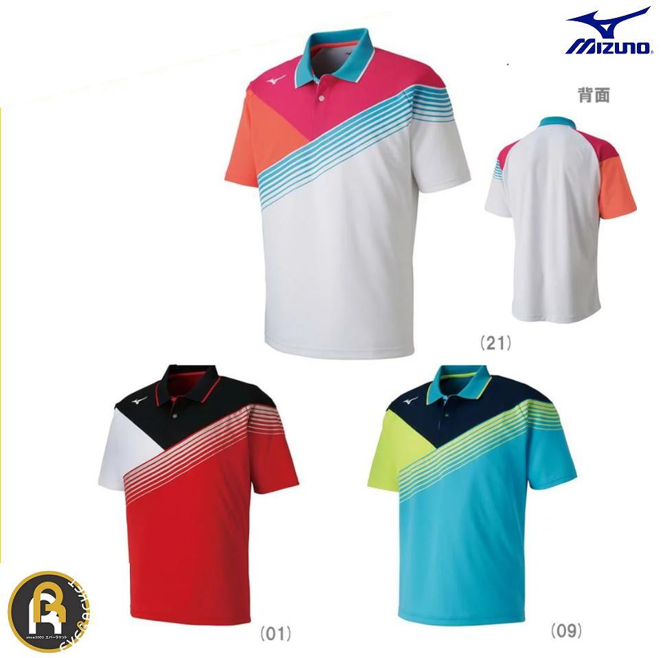 ミズノ MIZUNO バドミントン ソフトテニス ゲームシャツ ウェア ユニフォーム UNI ユニ 62JA8002