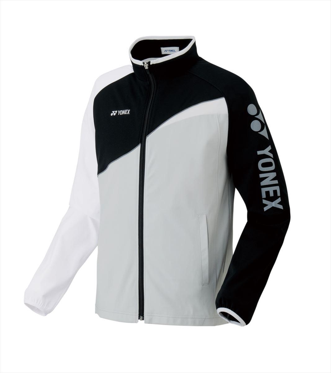 ヨネックス YONEX 52012 テニス・バドミントン ウェア(メンズ/ユニ) ユニニットウォームアップシャツ ブラック/ホワイト 17SS