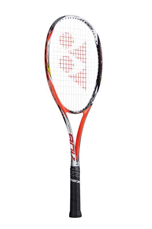 ソフトテニス ラケット ガット代 張り代 無料 nxg90v ヨネックス (YONEX) ネクシーガ90V ブライトレッド 前衛モデル