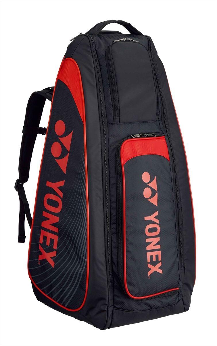 ヨネックス YONEX BAG1819 テニス バッグ スタンドバッグ/リュック付/テニス6本用 ブラック/レッド 17FW