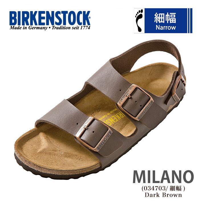 ビルケンシュトック ミラノ BIRKENSTOCK Milano サンダル 034703 細幅 Birko-Flor レディース ビルケン あす楽対応