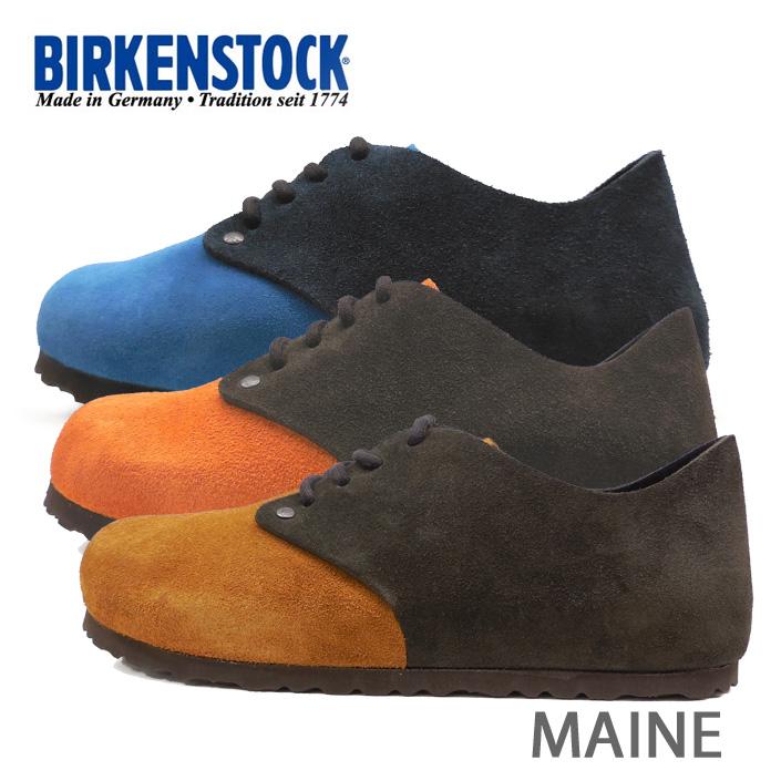 BIRKENSTOCK ビルケンシュトック Maine VL メイン レースアップ 672173 672183 672193 細幅 スエード メンズ レディース あす楽