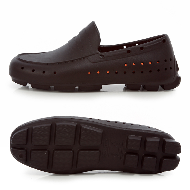 PONIC&Co. 支持ponikkuandoko ALEX亚厉克斯PF13001 EVA材料低毛皮人分歧D鞋运动鞋ESPRESSO/ORANGE浓缩咖啡橙子乐天邮购