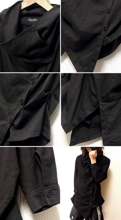 """7 袖缝的男士变形切换外套见齐名的外套 4 / 5""""不对称变形开关站领 7 套 アフガンカットソー 外套 !"""