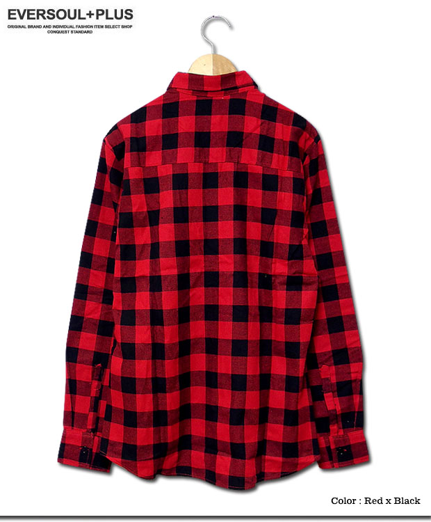 EVERSOUL PLUS | Rakuten Global Market: Shirt check shirt men's ...