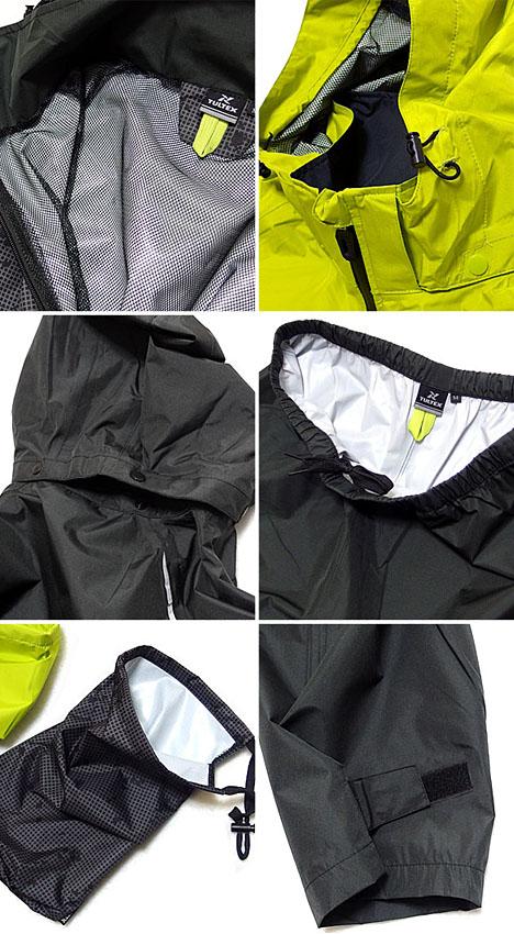 """防水雨夹克束腰女风衣防水防风雨衣 LL 3l / 防水/透气材料在优秀功能""""TULTEX""""回网安装雨服 !"""