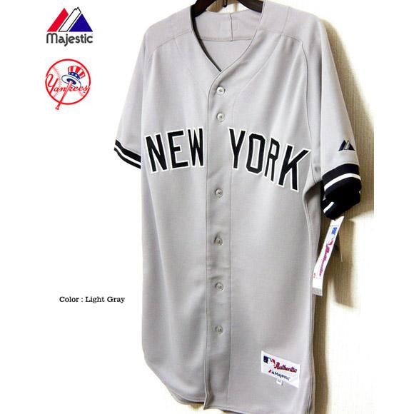 ニューヨーク ヤンキース ユニフォーム ジャージー 田中将大 メジャーリーグ Majestic Japan マジェスティック NEW YORK YANKEES オーセンティック アウェイ ジャージー 野球