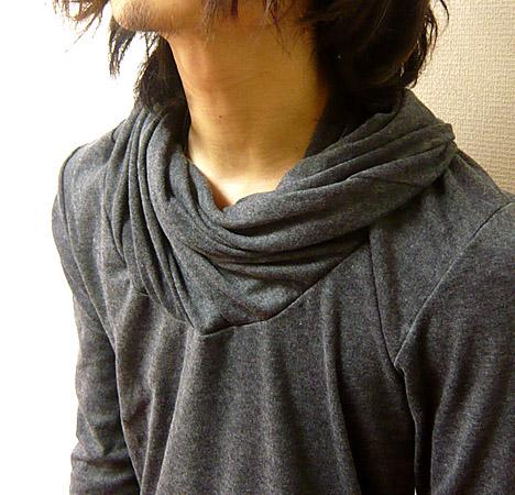 男士高领纯色: 螺旋 mockturtelneckmens superlongsleebmockturtel 颈部手指孔与超级长袖长袖衬衫 ! 美丽的眼睛,沙龙系列 !