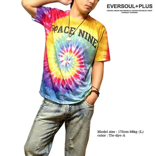 Tie dye print T shirt full-color big number logo mens  colorful tie dye  pattern number printed big logo t-shirt! 05a37ea6c