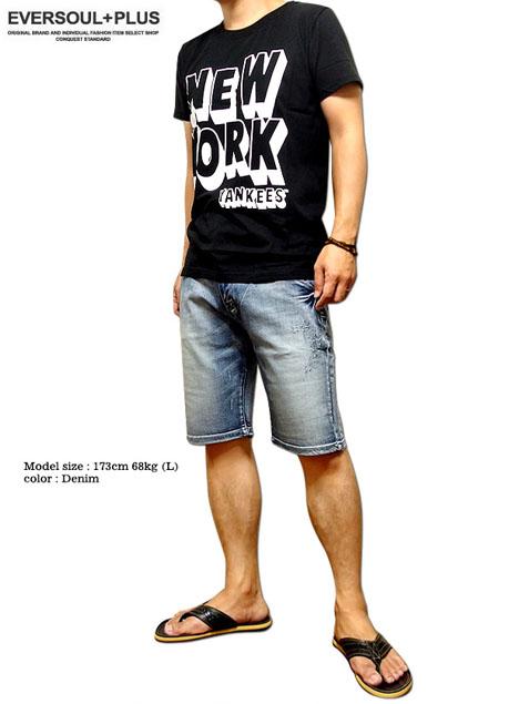 dd8e8427a44a Length denim shorts men five minutes 5 minutes length knee length shorts  switching