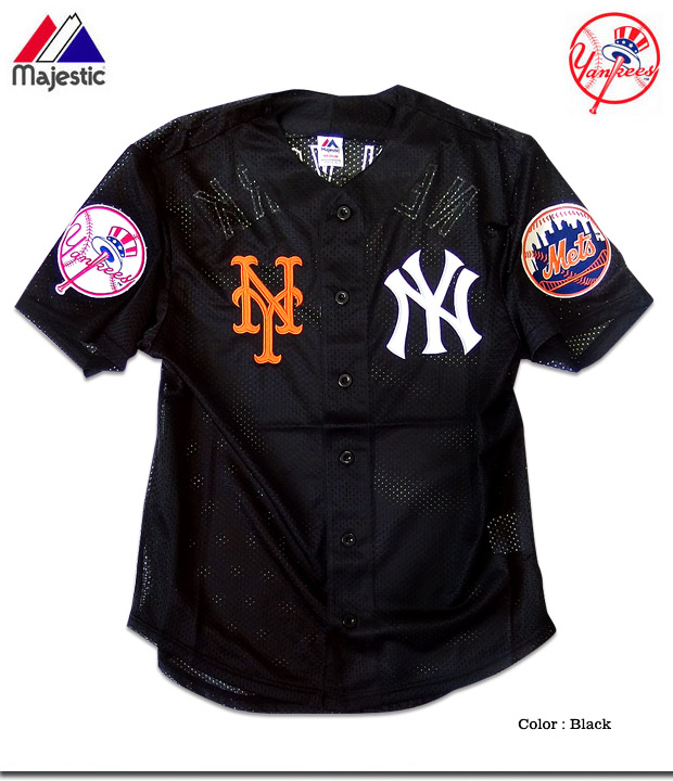 outlet store e7e8d 2b566 Baseball shirt baseball men New York Yankees Mets uniform mesh shirt HIPHOP  street fashion sports are casual