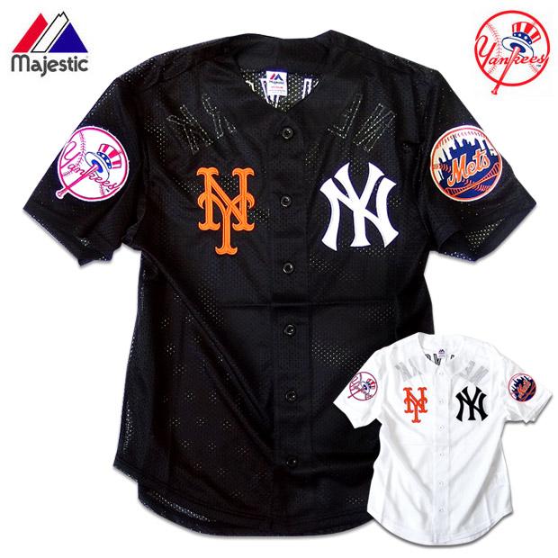 outlet store 6efcb 8ec3a Baseball shirt baseball men New York Yankees Mets uniform mesh shirt HIPHOP  street fashion sports are casual