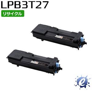 【2本セット】【リサイクルトナー】 ETカートリッジ LPB3T27 大容量 エプソン用 (即納再生品)