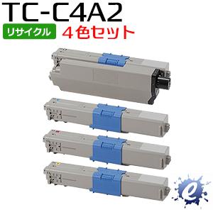 【4色セット】【リサイクルトナー】 TC-C4AK2 TC-C4AC2 TC-C4AM2 TC-C4AY2 (TC-C4A1の大容量) トナーカートリッジ(即納再生品) 【沖縄・離島 お届け不可】