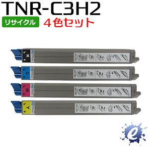 【4色セット】【リサイクルトナー】 TNR-C3HK2 TNR-C3HC2 TNR-C3HM2 TNR-C3HY2 (TNRC3H) 大容量 トナーカートリッジ(即納再生品)